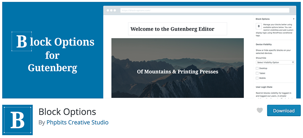 Free WordPress Block Options for Gutenberg