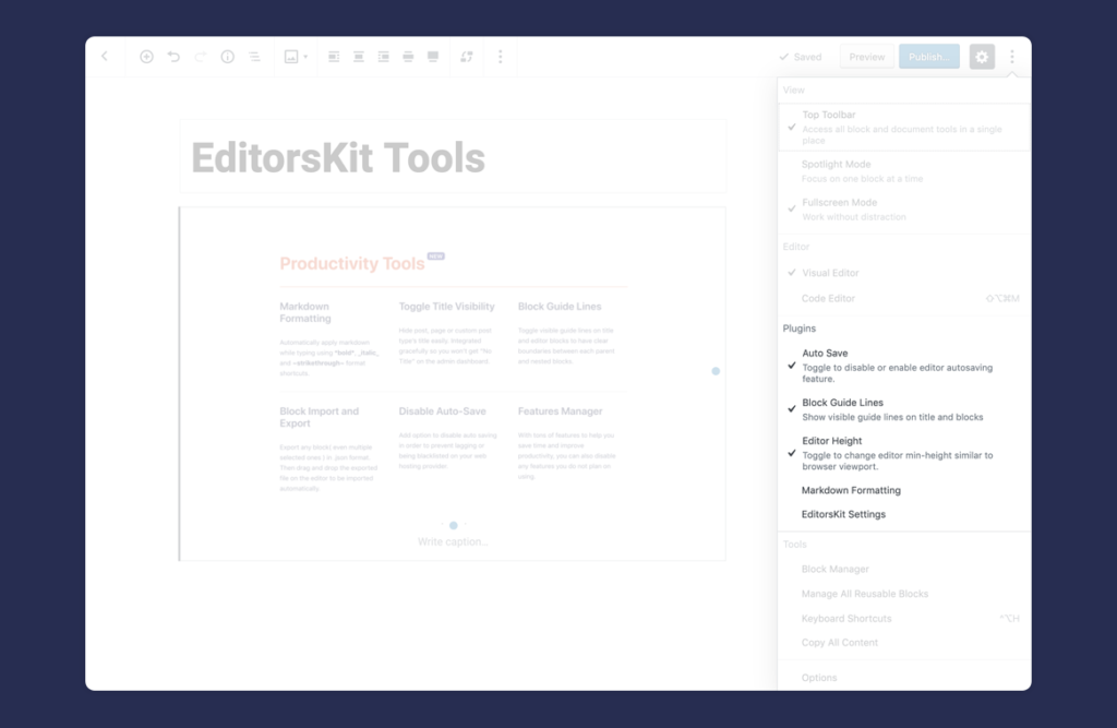 EditorsKit - Page Building Toolkit for the Gutenberg Block